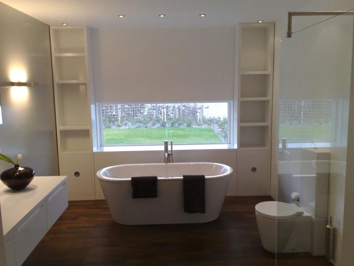 faience voor badkamer: carrara marmer voor de badkamer vloer en, Badkamer